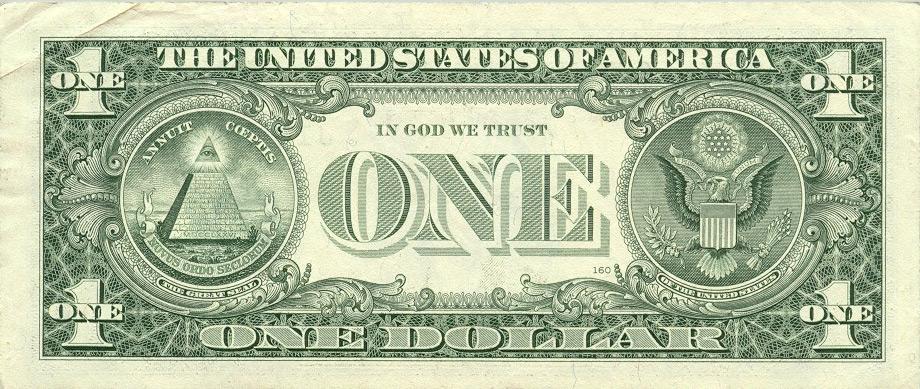 O lado oculto da nota de 1 dollar